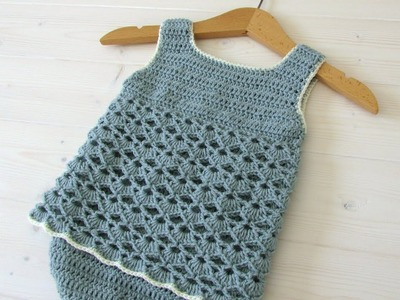 How to crochet a simple lace baby romper