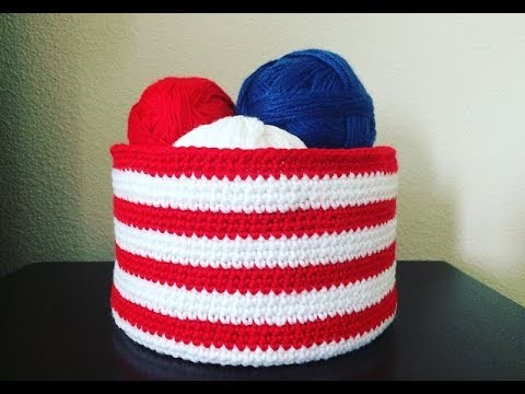 How To Crochet A Storage Basket, Lilu's Handmade Corner Video # 158