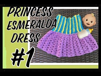 How to crochet baby dress  1-3 months  TUTORIAL ( TEJIENDO CON ERICA ).!!!