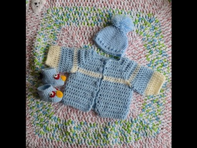 How to Crochet baby sweater.cardigan