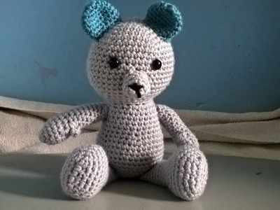 How to crochet basic bear legs