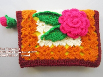 How to Crochet Book Cover with Rose Book Mark Video Tutorial