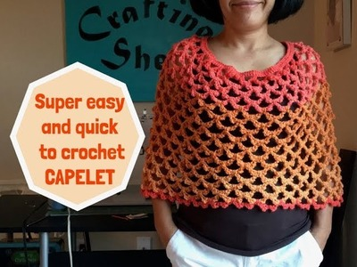 How to crochet easy CAPELET