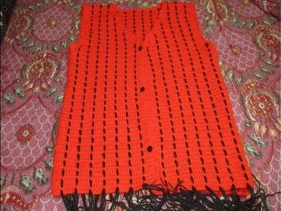 How to crochet easy jacket [In HINdi]