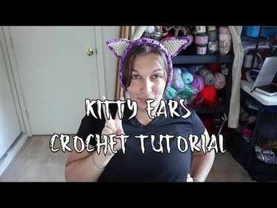 How to Crochet Kitty Cat Ears Tutorial | Beginner Friendly | Last Minute Costume