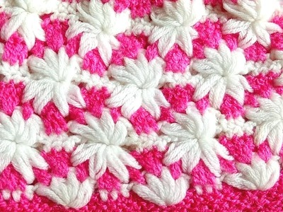How To Crochet Puff Flower Stitch Pattern