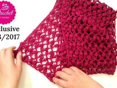 How to Crochet Scarf.Shawl.Cowl #1 Easy☕ for all seasons |The Crochet Shop for Free tutorials