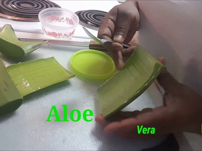 How to Cut and Store Aloe Vera | She Rubs Aloe Vera on her face