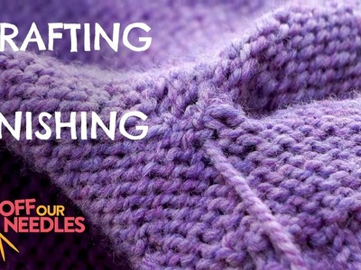 How to graft armholes & weave in ends   STEP 5 FINISHING the Zadie Sweater Knit-Along