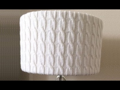 How To Knit A Cable Lamp Shade Cover, Lilu's Handmade Corner Video # 162
