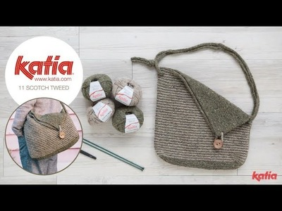 How to Knit a Stripe Tweed Bag