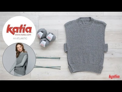 How to Knit a Women Sleeveless Sweater