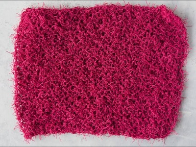 How to Knit an Easy Dish Cloth