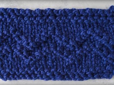 How to Knit Chevron Stripes
