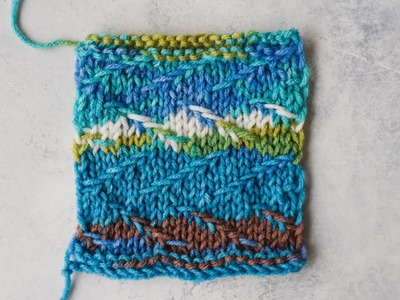 How to Knit Staggered Slip Stitch