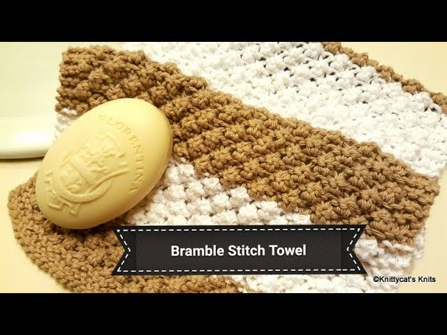 How to knit the bramble stitch: a Knittycat's Knits tutorial