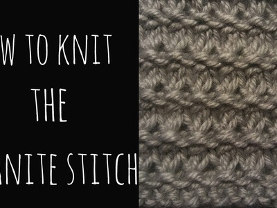 How to Knit the Granite Stitch