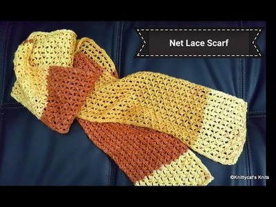 How to knit the net lace stitch: a Knittycat's Knits tutorial
