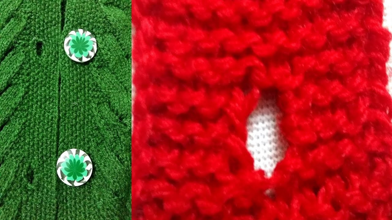 How to Make A Button hole For Fancy Big Button (Part-1)