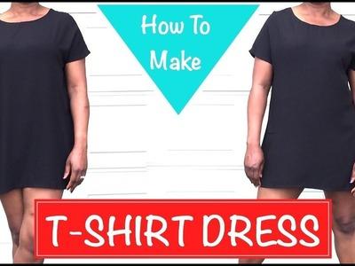 How to Make a T-Shirt Dress - DIY - PrettyTallLifeTV