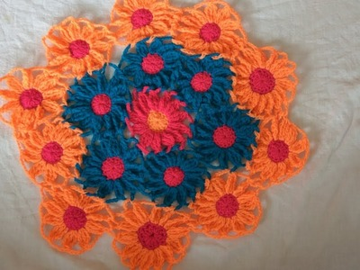 How to make a tablecloth with flower design????