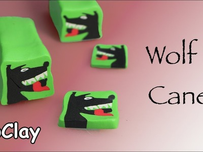 How to make a Wolf Polymer clay Cane - DIY