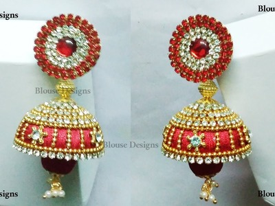 How to make attactive Bridal Jhumkas Tutorial +earring