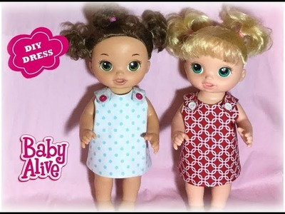 How to make Baby Alive doll Dress Free Pattern DIY