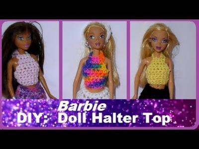 How to Make: Barbie Doll Clothes - Halterneck Top!