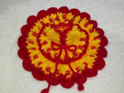 How to make beautiful 2 layered crochet dress of Bal Gopal. Ladoo Gopal. Kanha Ji