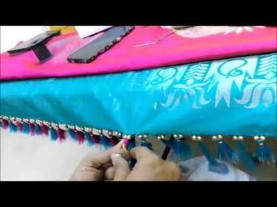 How to make Beautiful tassels.Kuchu for Silk Saree. pattu saree  in a easy method