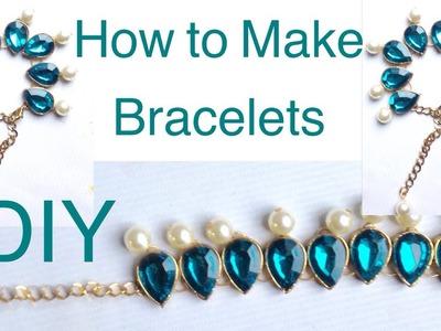 How to make bracelets - diamond bracelet - beads bracelet - charm bracelet -DIY bracelet