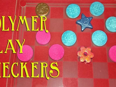 How To Make Checkers.Draughts Pieces Out Of Polymer Clay