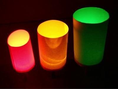 How to make Colorful night lamp - DIY Paper Lamp