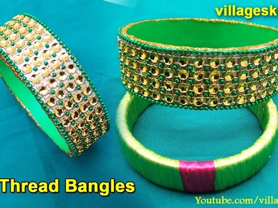How to make designer bangles from Best out of waste l easy way to make bangles at home l simple DIY
