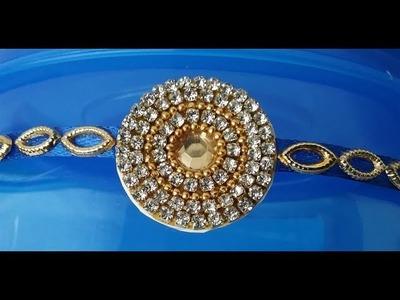 How to make designer Rakhi at home l DIY Rakhi making ideas l how to make rakhi # 10 ,Raksha Bandan
