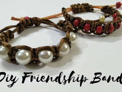 How to make friendship band\how to make rakhi \hand made breclets\diy breclets