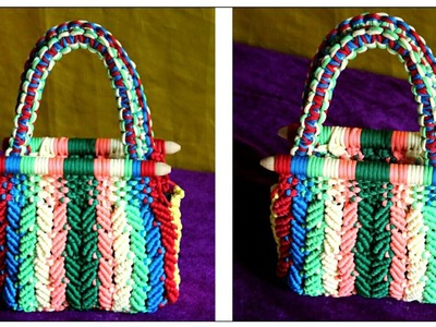 How to make Ladies Bag using Waste Macrame Threads full step by step video|Best use of waste Macrame