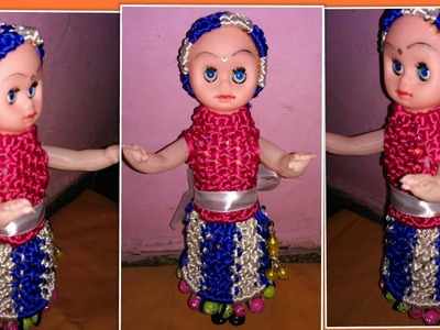 How to make macrame barbie doll dress full hd video step by step.