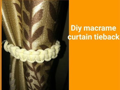 How to make macrame curtain tie back