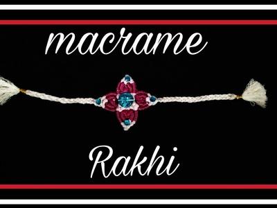 How to make macrame Rakhi.