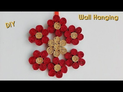 How to Make Newspaper wall hanging. Newspaper crafts. Wall Decor. Best out of waste. DIY
