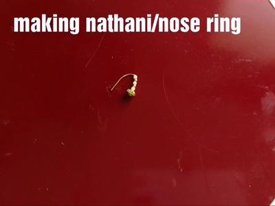 How to make nose ring.Maharashtra style nathani.nattu -at home