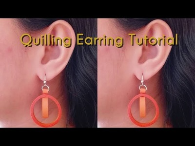 How to Make Quilling Earrings. Tutorial. Design 68