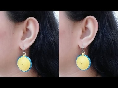 How to Make Quilling Earrings. Tutorial. Design 70