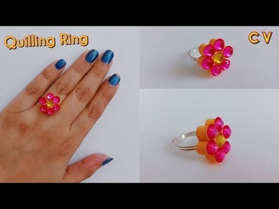 How to Make Quilling Finger Ring. Tutorial. Beginners. Design 8