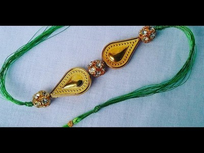 How to make Rakhi , friendship band easily at home ,Rakhi making ideas l how to make Rakhi # 09,DIY