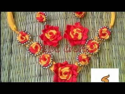 How to make ribbon necklace with earring
