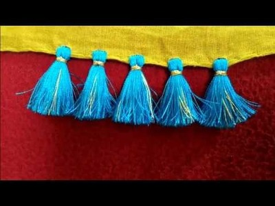 How to make Simple saree kuchu.tassels design by simple technique