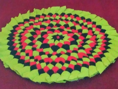 How to make table mat using old t-shirts